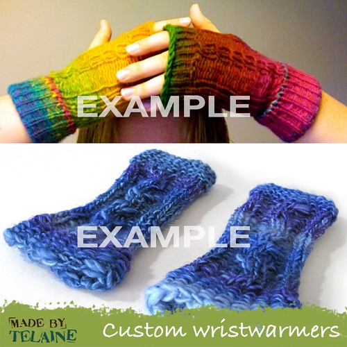 Custom wristwarmers