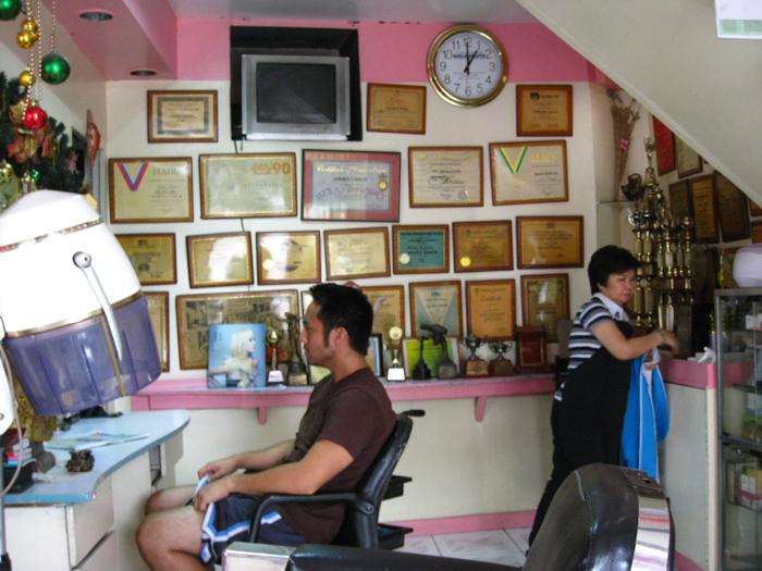 Haircut in San Juan
