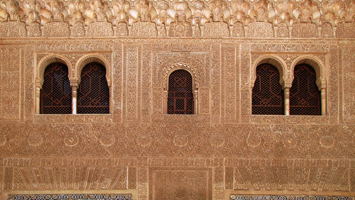 Decorated Wall of Palace of Comares, Al Hambra