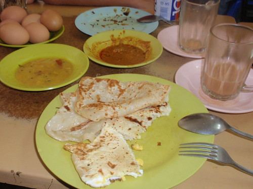 Roti Canai for breakfast...yum!!