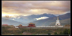 nEO_IMG_IMG_0608 (c0466art) Tags: china morning travel light mountain beautiful clouds canon landscape temple town photo scenery colorful long view religion oct distance len far 2009 important hight
