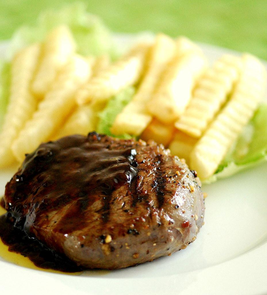 Beef Tenderloin with Fries