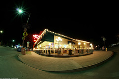 Paty's Diner in Burbank, CA (dj murdok photos) Tags: longexposure sony sigma diner wideangle fisheye nighttime nightshots burbank alpha richcolors a700 10mmfisheye