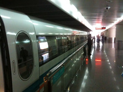The MagLev bullet train in Shanghai