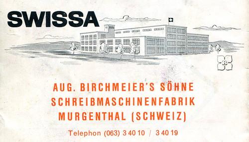 Schreibmaschinenfabrik Aug. Birchmeiers Söhne
