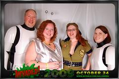 Ty Becky Poppy Heather (avitable) Tags: costumes party halloween alien invasion invaded avitaween avitaween2009