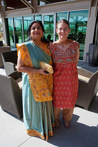 Sonal and Caroline at Rachna's Engagement