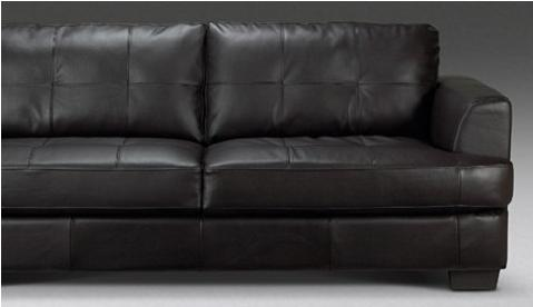 Megan Fox Leather Couch. spotted this leather sofa