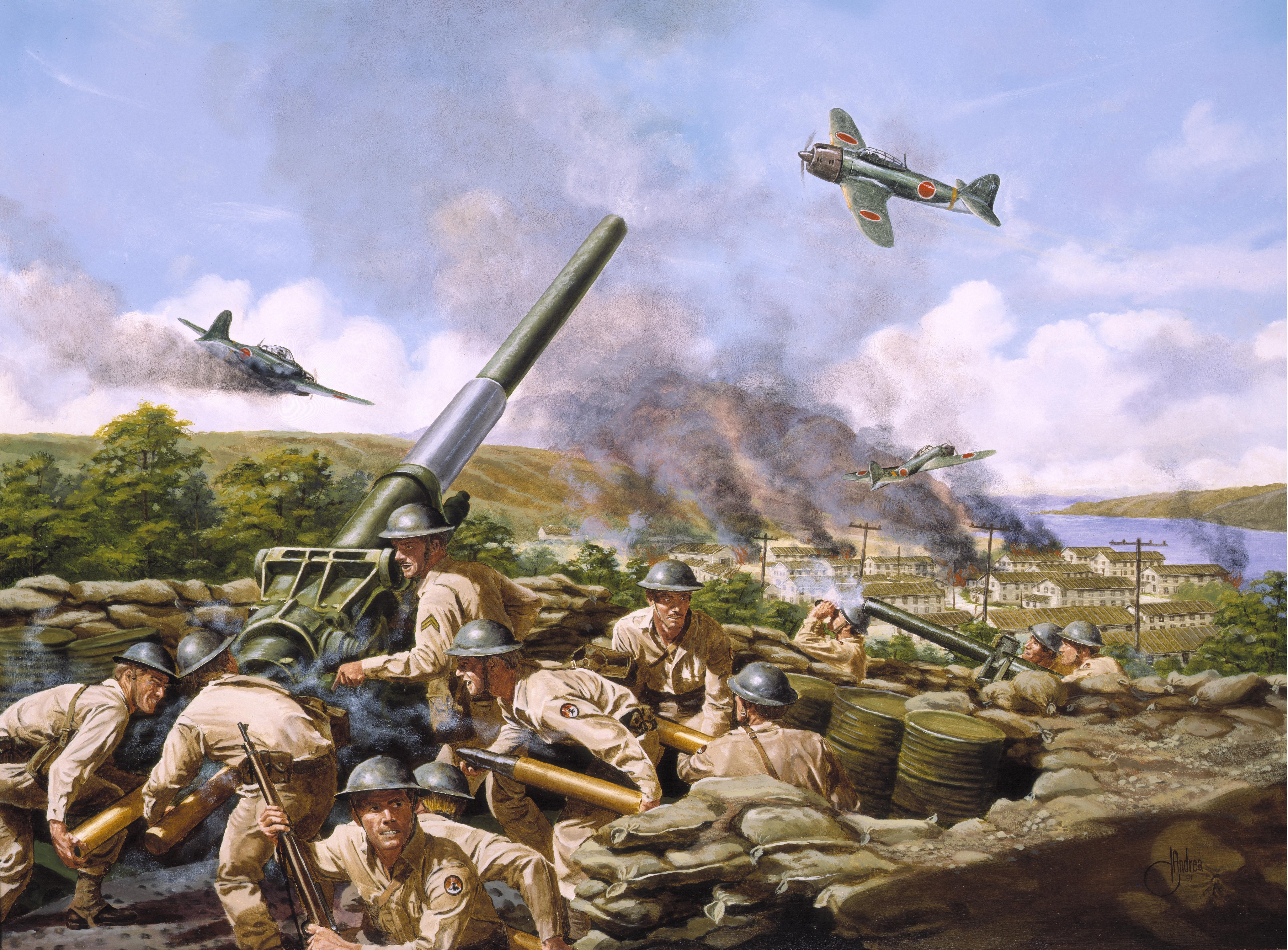 フリー写真素材 芸術 アート 絵画 版画 戦争 軍隊 ゼロ戦 零式艦上
