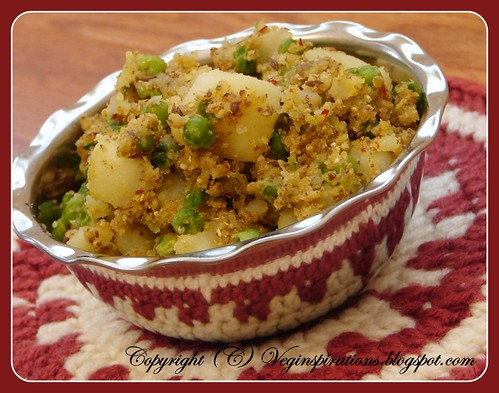 Potato curry with flax and quinoa