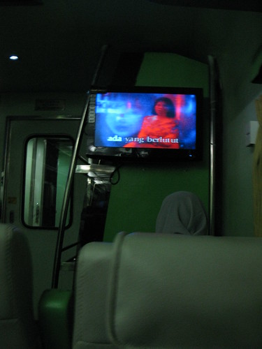 green television train tv interior luggage rack renovation turangga