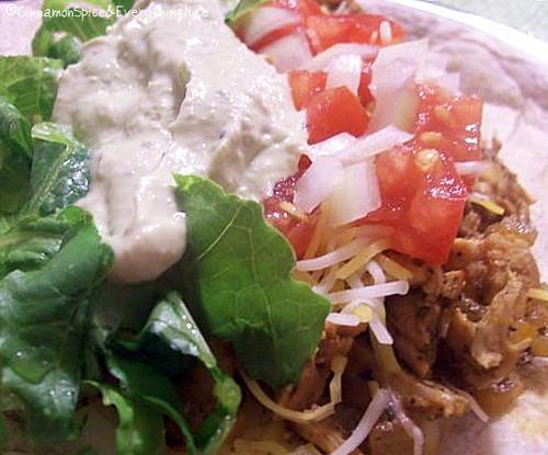 Chicken Chipotle Tacos & Cool Guacamole