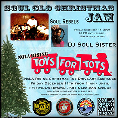 Soul Glo Toys For Tots Official Flyer - NoLA Rising Event