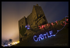 Spooky Castle (Light Painted Cornwall) Tags: light sky lightpainting castle history halloween pool tristan night clouds painting four restaurant evening long exposure paint cornwall time drawing painted ghost haunted spooky sabre saber granite historical lightsaber brea terrifying lanes redruth lightsabre barratt lightpaint camborne carn lightpainted carnkie