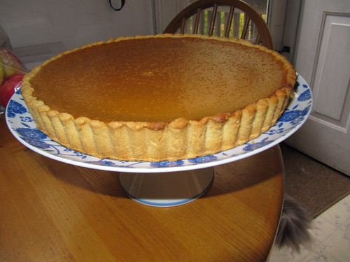 sour cream pumpkin tart