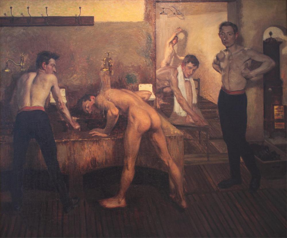Milos Jiranek, Showers in the Sokol Gym in Prague 1, 1901-1903