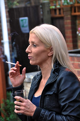 (Bob the Binman) Tags: girl female pretty cigarette cider blonde attractive usc smoker milf camra drinkers ticker scooper real nikond90 ale eghambeerfestival eghamunitedservicesclub