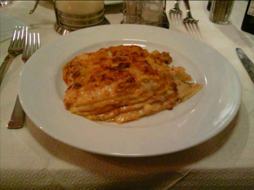 Lasagne at Trattoria da Sergio, Lucca