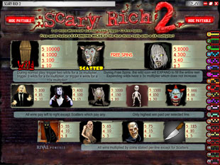 free Scary Rich 2 slot mini symbol