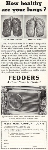 vintage magazine advertising found ad airconditioner fedders