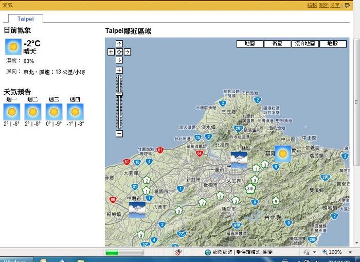 誇張的台北天氣預報