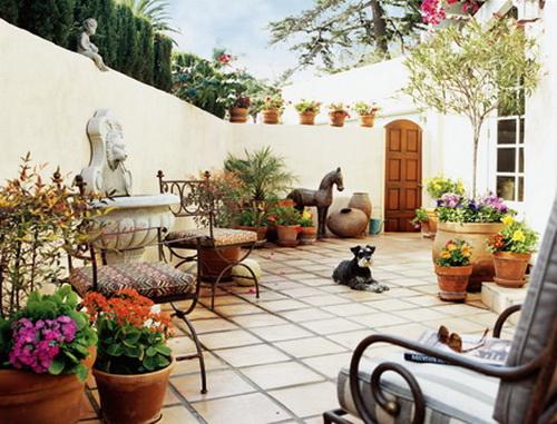 Mediterranean Garden Style at Home