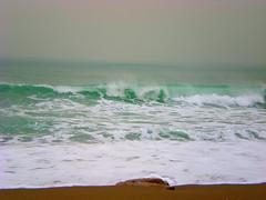 Emerald waves ... (pantherinia_hd Anna A.) Tags: trip travel winter sea vacation seascape storm beach rain fog landscape island sand europe mediterranean waves aegean hellas greece destination rodos rhodes emerald rodi vanagram