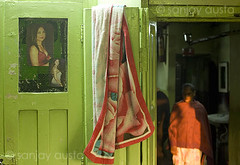 Old sex worker in a kotha, G.B. Road, Delhi (sanjayausta) Tags: road b light red people india sex flesh female workers women asia district g delhi indian prostitution exploitation area females sexual trade prostitutes oldest sanjay profession austa