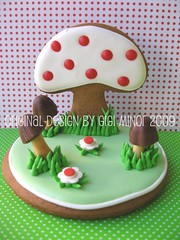 Kawaii Mushroom Gingerbread 3-D Cookie (Pinks & Needles (used to be Gigi & Big Red)) Tags: holiday flower cute mushroom fairytale japanese baking cookie little blossom sweet cinnamon gingerbread inspired explore polkadots gift kawaii icing darling frosting decorated wilton redhots molasses hanselgretel originaldesign royalicing greass gigiminor pinksandneedles gigiandbigred gigibigred pinksneedles meringuepowder myfrostedwindow 3dcookie