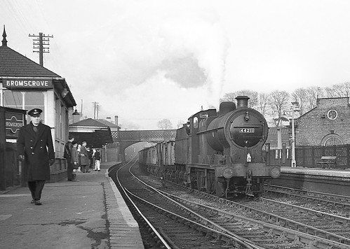Class 4F no.44211. Bromsgrove. 2 March 1963