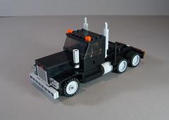 Western Star Semi (Ricecracker.) Tags: tractor truck star lego fig mini semi figure western wheeler trailer minifig 18 eighteen 18wheeler minifigure moc foitsop minifigscale