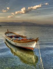 Ceyhan (Nejdet Duzen) Tags: trip travel sea cloud reflection turkey boat trkiye deniz sandal izmir bulut yansma turkei seyahat inciralt saariysqualitypictures