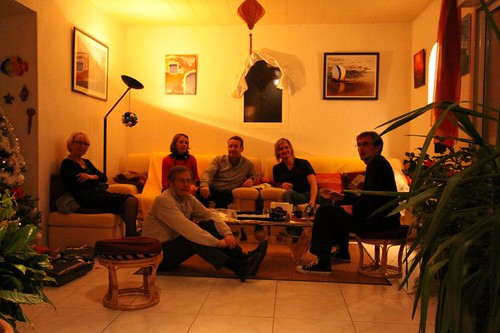 Arlette, Roger, Silvie, Philippe, me, and Will in Bourcefranc Le Chapus, France.