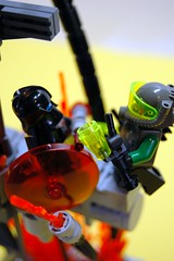Robot Battle Above Burning Lava Pit (unhh) Tags: lava robot lego flames battle swords foitsop