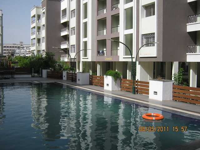 Swimming Pool in Kolte-Patil Developers' Green Groves - Ready Possession  2 BHK 3 BHK 4 BHK Flats & Bungalows - Wagholi - Kharadi Annexe - Nagar Road - Pune