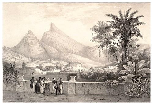 011-El Corcovado desde la mansion del Consul ingles-Journal de la navigation autour du globe… 1837-Barón de Bouganville-fuente BOTANICUS