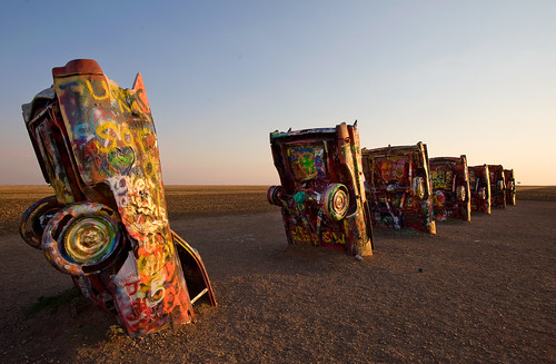 Cadillac Ranch, Sunset Row by OneEighteen