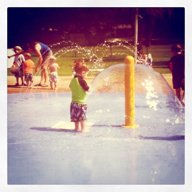 More splash pad...perfect for his age...