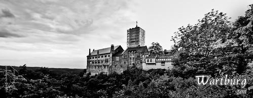 Wartburg in Schwarzweiß