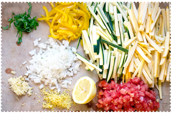 Ingredients for Lemon-Basil Shrimp