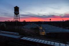 Mill Town Sunset (WillJordanPhoto) Tags: sunset sky orange vibrant mill textile greenville southcarolina
