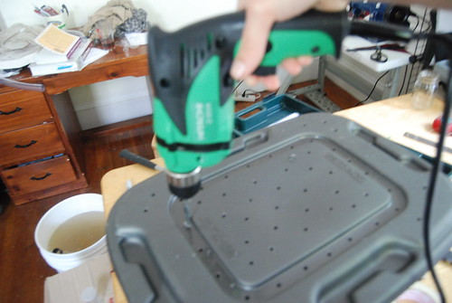 Drilling air holes