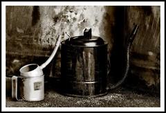 Oil Cans Still Life (MGdeABQ) Tags: stilllife tritone dphdr oilwasoncealive