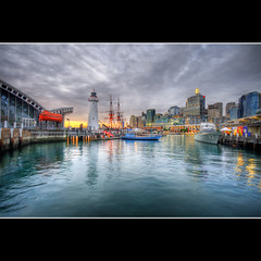 h a r b o u r (Pawel Papis Photography) Tags: city sunset lighthouse water museum photoshop buildings bay ship cityscape cs2 harbour sydney australia wharf nsw newsouthwales darlingharbour darling hdr maritimemuseum photomatix sigma1020 3ex mywinners canon400d