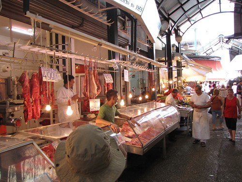 Open-air market in Thessaloniki