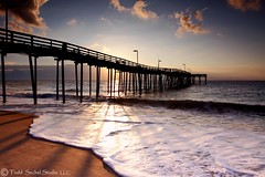 Avon Pier, NC Sunrise 1 (tsechel) Tags: ocean vacation beach water sunrise pier sand shadows wave northcarolina atlantic outerbanks avon obx canon1740lf4 canon50d avonpier leegndfilters