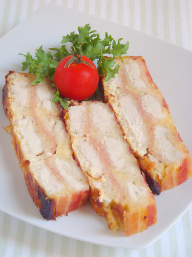 chicken with cheese and ham in the oven