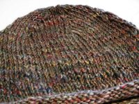 HC$$ Auction!! <BR>Small Spindle Spun Knitted Hat <BR>by Debi