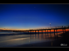 Blue Hour, Henley Jetty (Dale Allman) Tags: ocean sunset colour beach nature water sand waves dusk jetty australia adelaide southaustralia 1740 henleybeach photomatix henleyjetty canon5dmkii