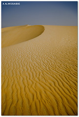 (A.Alwosaibie) Tags: lines yellow corner gold photo sand nikon shot desert tide wide sigma wave ripples through 1020mm d60  alhasa                aalwosaibie
